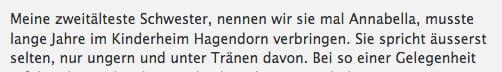 Biografische Erinnerngen ans Kinderheim Hagendorn.