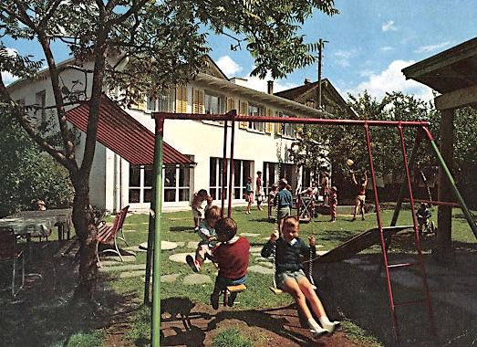 Kinderheim Blumenhof, Postkarte aus dem Jahr 1963.