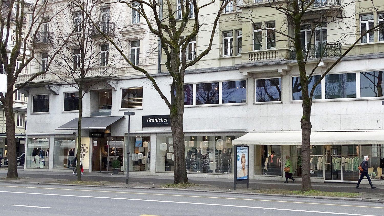 Das Gränicher-Flagschiff: Der Hauptsitz an der Pilatusstrasse 9 verkauft Herrenmode.