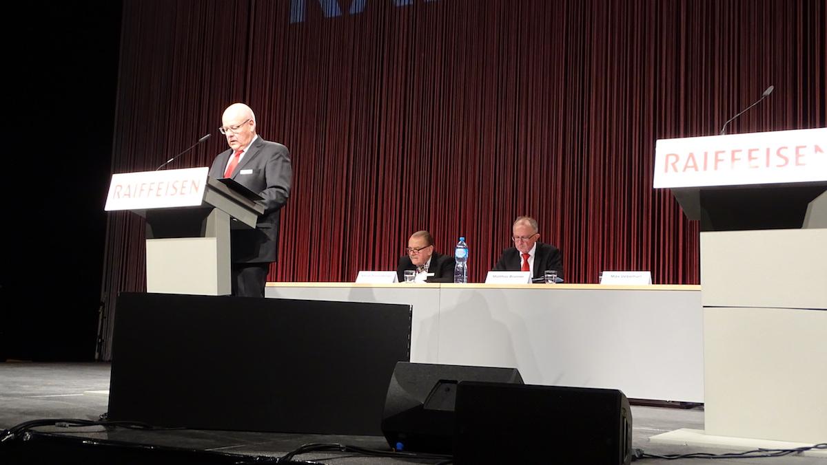 Verwaltungsratspräsident Max Uebelhart handelte das Thema Pierin Vincenz sehr diplomatisch ab.