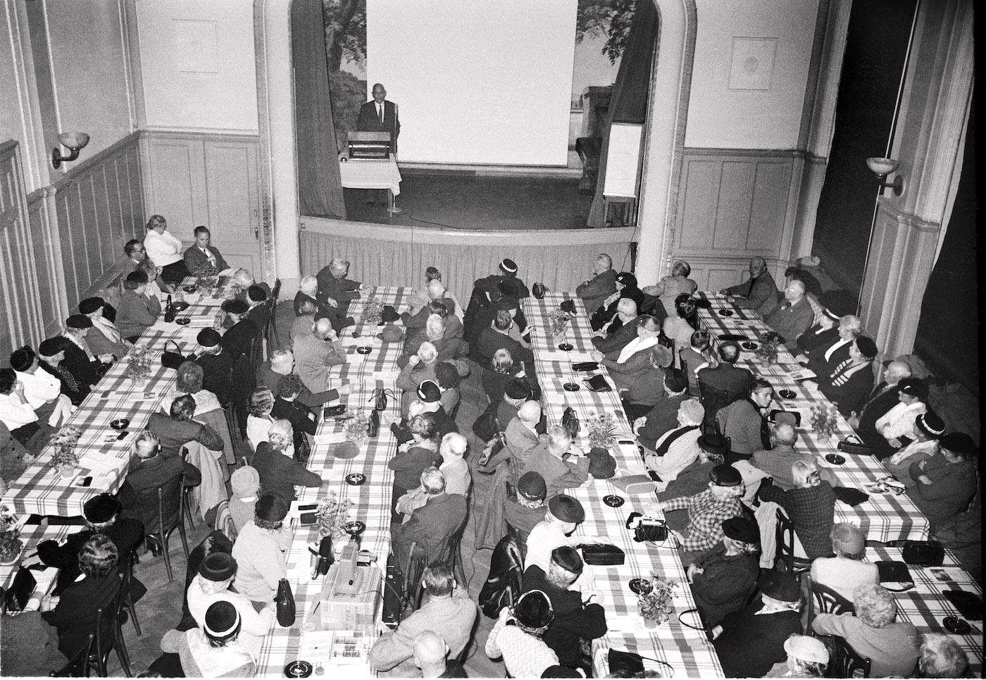 Alterskundgebung 1958 im «Volkshaus».