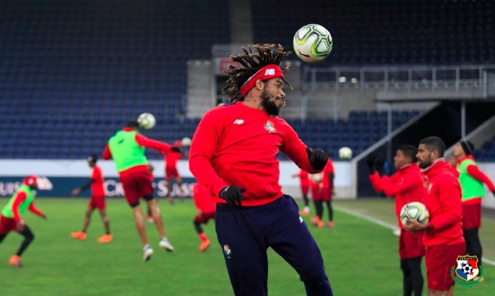 24 Stunden vor dem Anpfiff absolviert die Nationalmannschaft Panamas ihr Abschlusstraining.