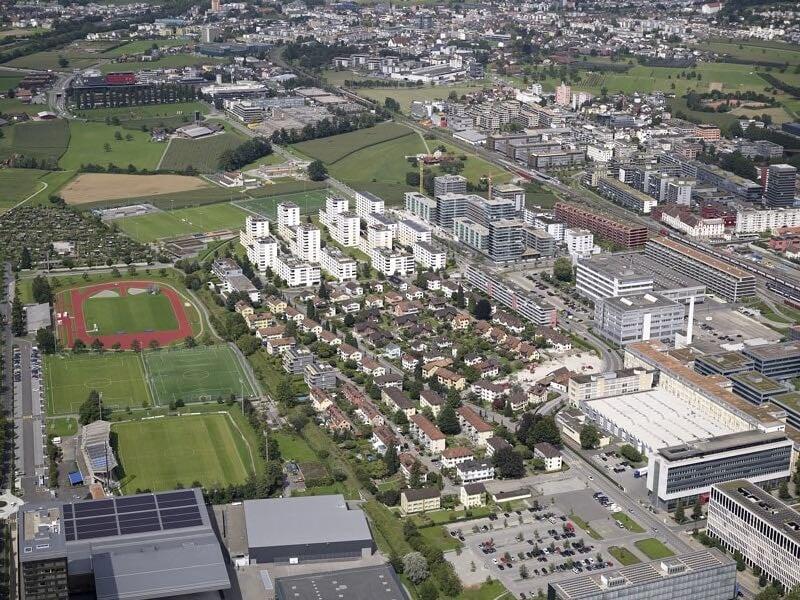 13 Häuser der Gartenstadt (Bildmitte) sollen Neubauten weichen. Zehn gehören der kantonalen Gebäudeversicherung.