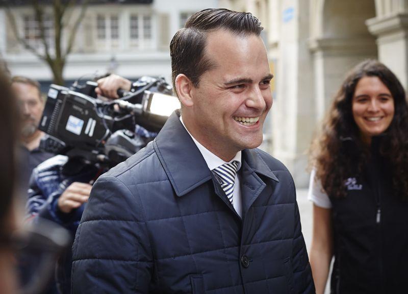 Hat gut lachen: Der 31-jährige Damian Müller (FDP) wurde am Sonntag in den Ständerat gewählt.