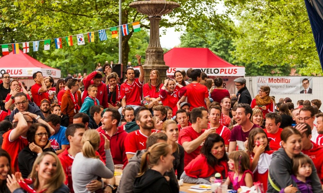 WM 2014: Euphorie pur im Public Viewing.
