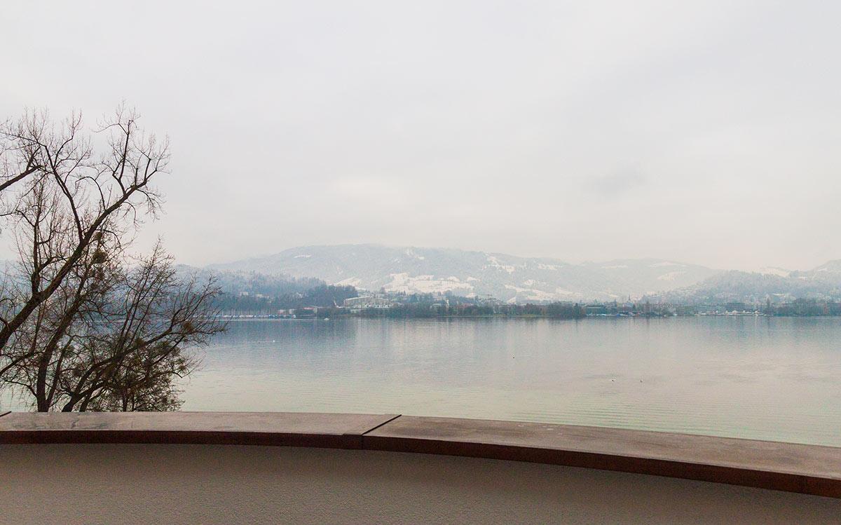 Der Ausblick auf das Luzerner Seebecken und den Pilatus ist auch bei Nebel beeindruckend.