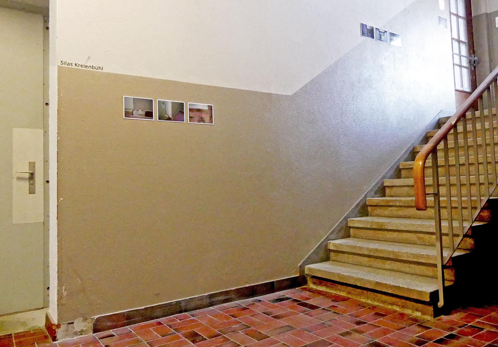 Das Kunstprojekt von Silas Kreienbühl im Treppenhaus.