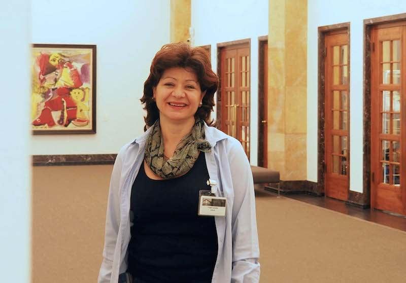 Giuliana Caccettakennt die Macken der Museums-Türen.