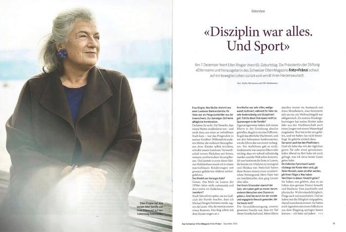 Zu ihrem 65. Geburtstag bedankten sich auch «Fritz und Fränzi» gebührend bei der engagierten Verlegerin.