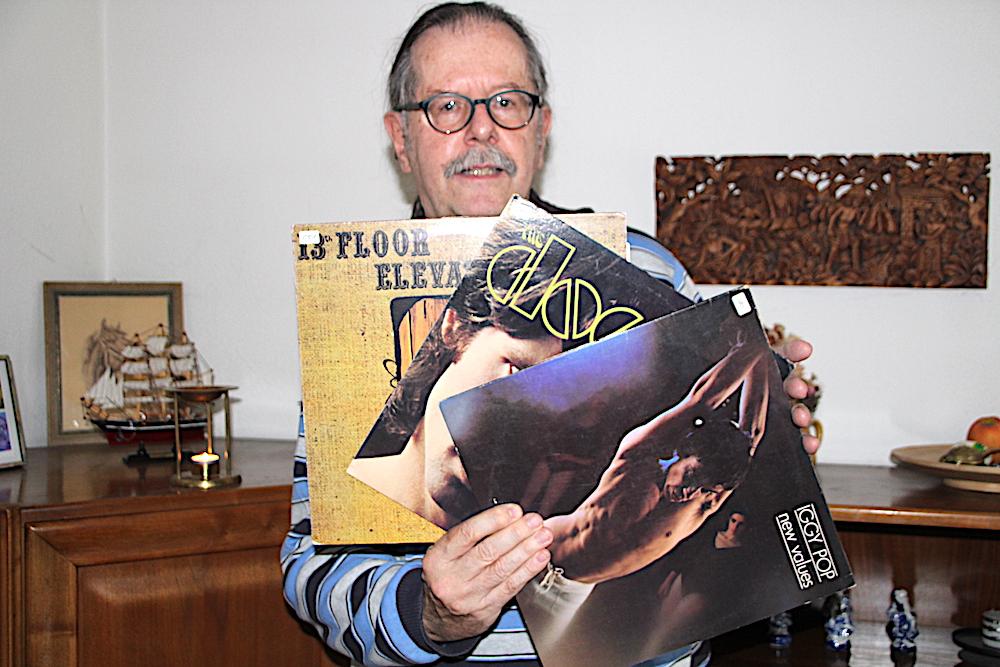 Hans Peter Roth in Baar hat in seiner Wohnung noch zahlreiche Original-LPs der damaligen Hippie-Musik.