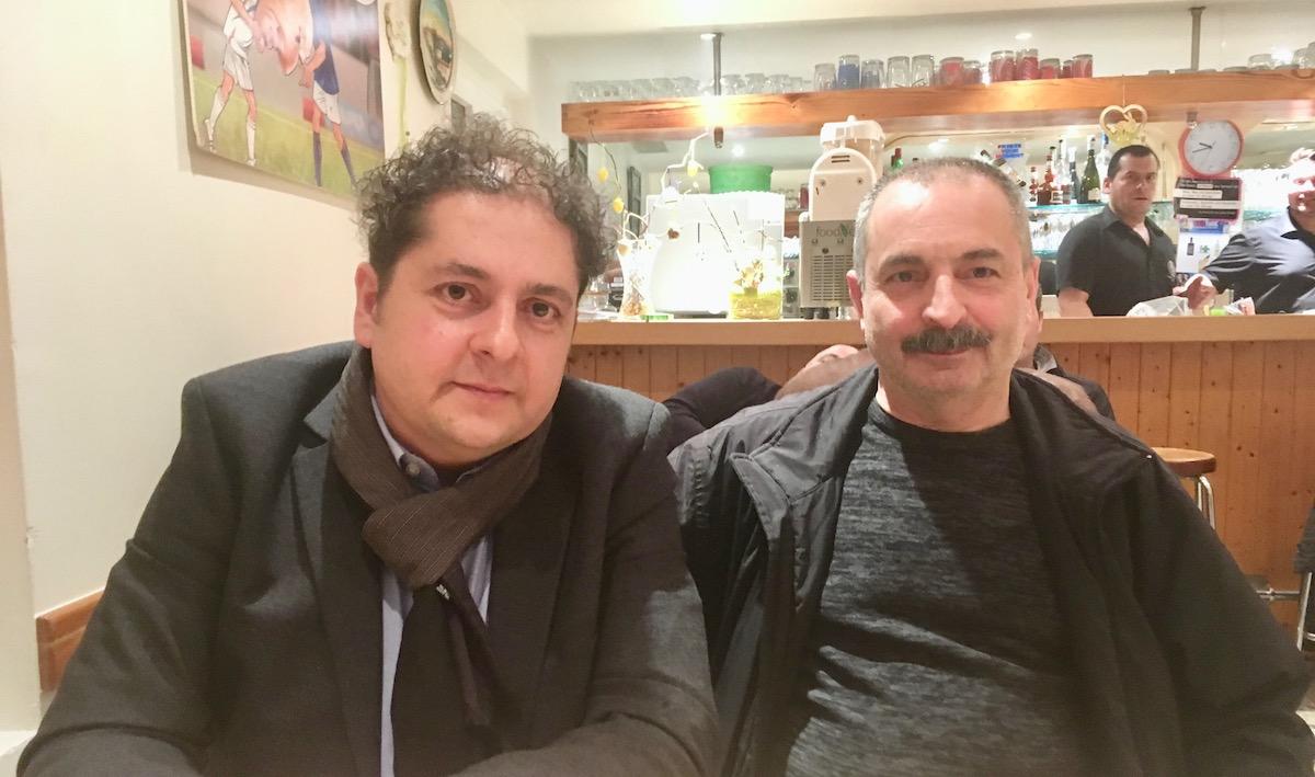 Vereinspräsident Stefano Romeo (links) und Vorstandsmitglied Carmine Ventra.