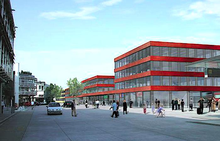 Ursprünglich war der Baarer Bahnhof in einem prägnanten Rotton geplant…