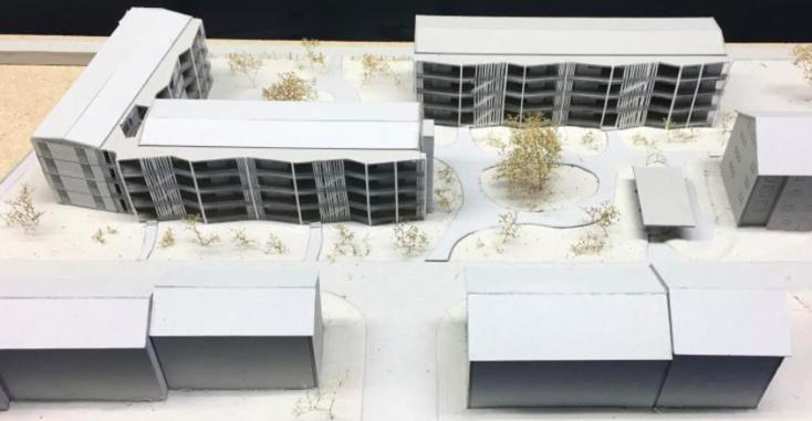 So soll die neue Überbauung im Lauriedhofweg aussehen – die übrigen, jüngst sanierten Wohnblocks der Wohnbaugenossenschaft Heimat Zug mit 51 Wohnungen bleiben dagegen stehen.