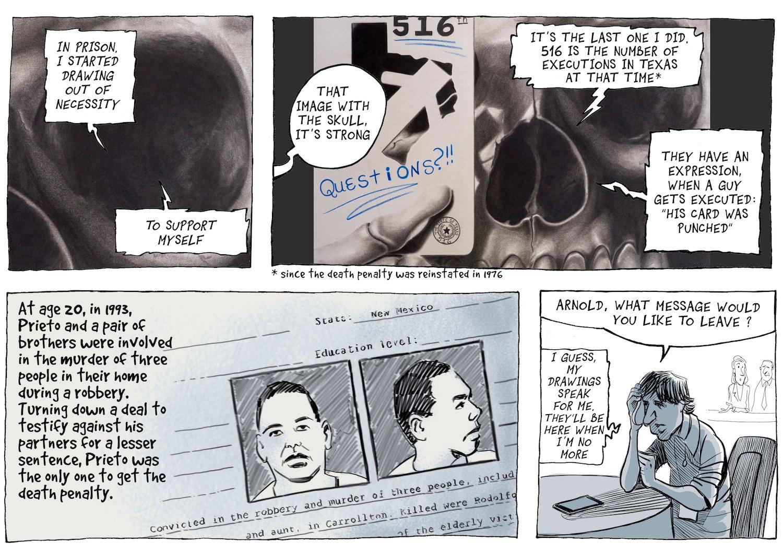 «Inside Death Row» von Patrick Chappatte, zu sehen in der Zivilschutzanlage Sonnenberg.