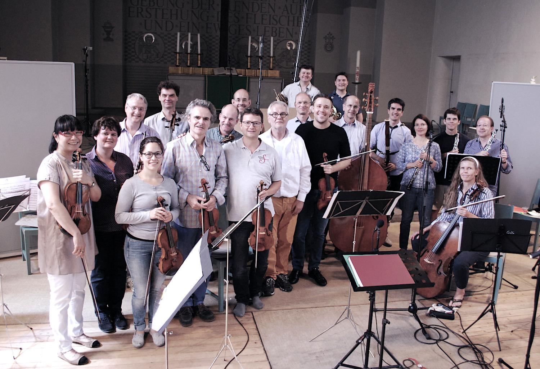 Die Berliner Barock-Solisten im Studio.