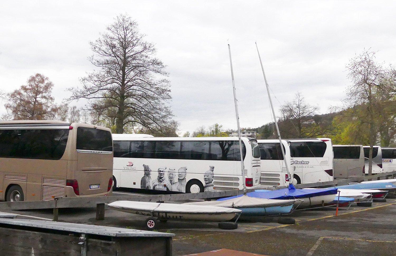Der Carparkpatz Brüelmoos gleich beim Lidocamping.
