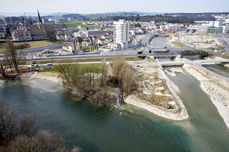 Der Reusszopf hat seinen Namen, durch die beiden Flüsse, die hier zusammenkommen.