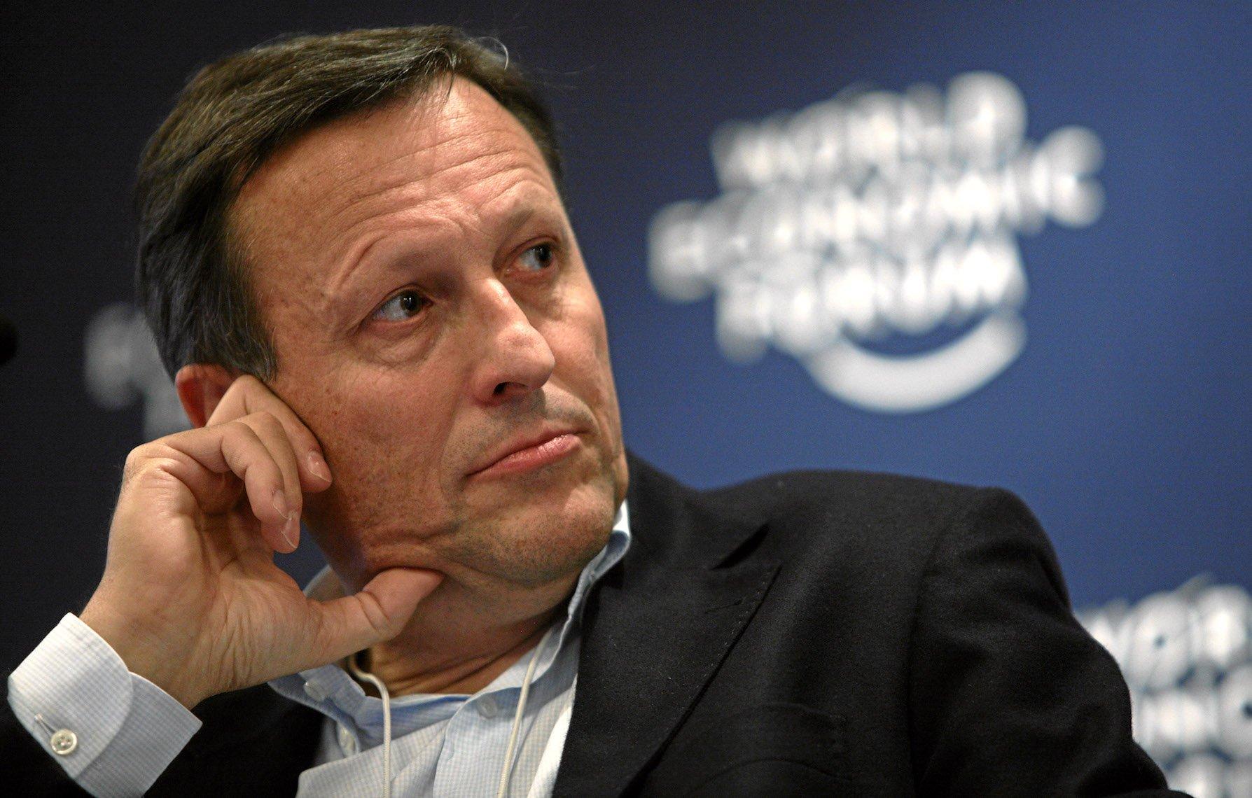 Daniel Vasella, 2010 als CEO von Novartis am World Economic Forum in Davos. Mittlerweile trägt er Bart.
