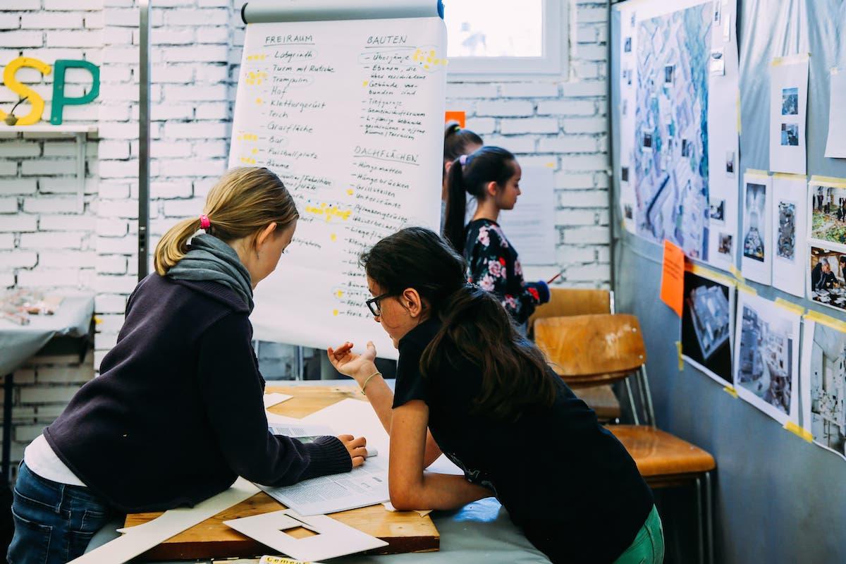 Das «Planerbüro» des jungen Projektteams.