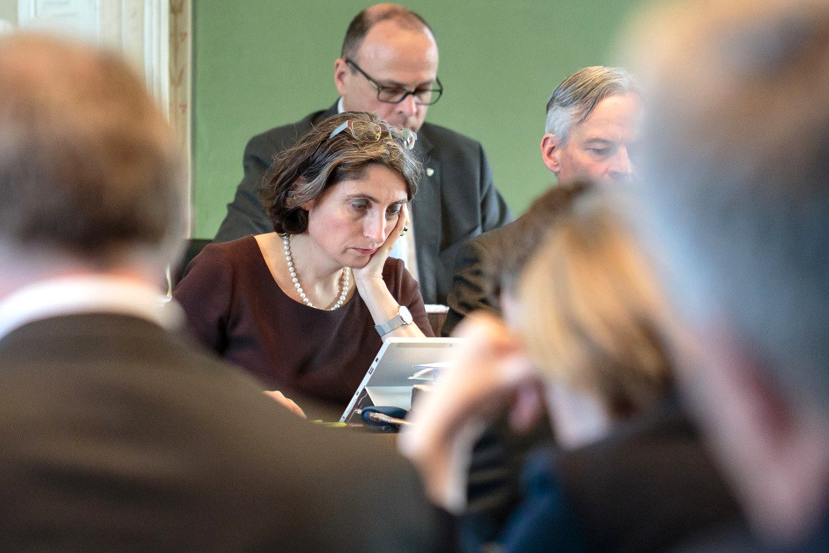 Nachdenklich im Kantonsrat: Manuela Weichelt-Picard.
