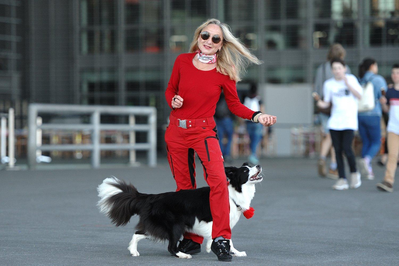 Der Hund merkt den Takt nicht: Die Krienserin Yvonne Belin macht sich keine Illusionen.