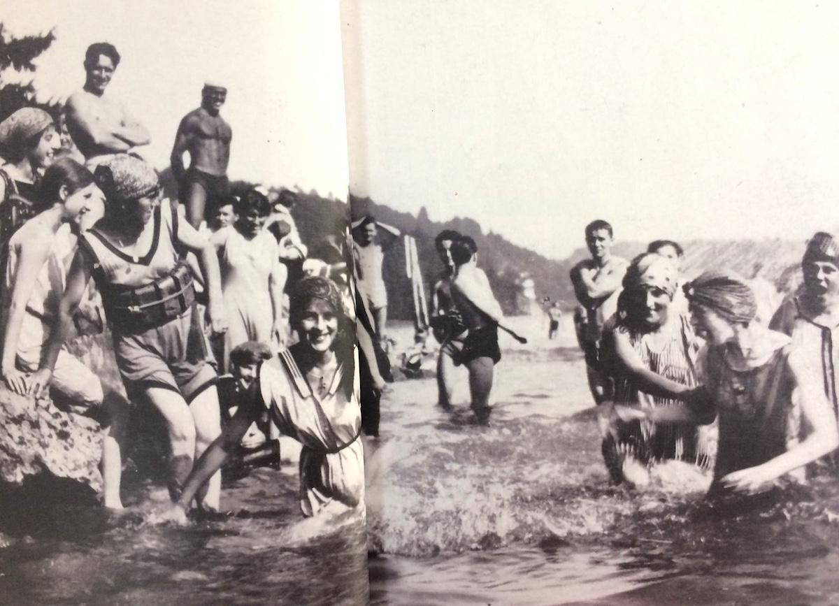 Ein Bild aus dem Lido in Luzern um 1922.