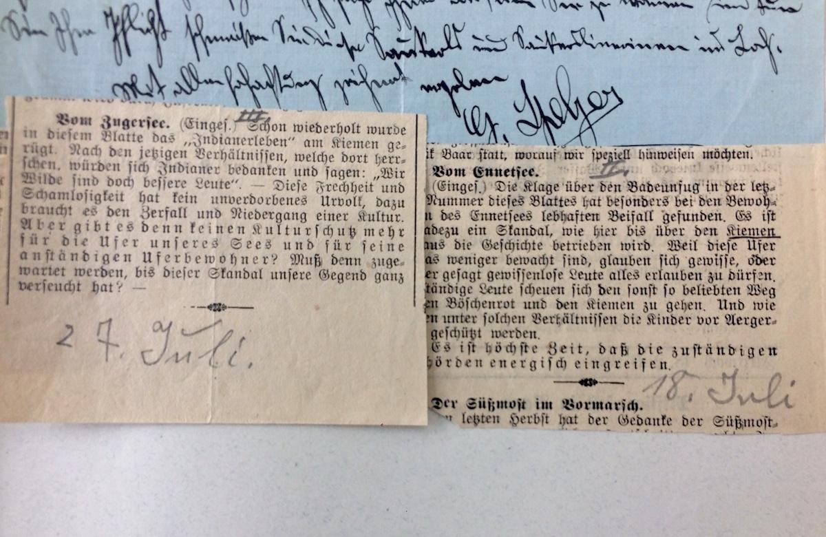 Leserbriefe und Anzeigen waren oft Anlass für grosse Diskussionen im Polizeidepartement und in der Politik.