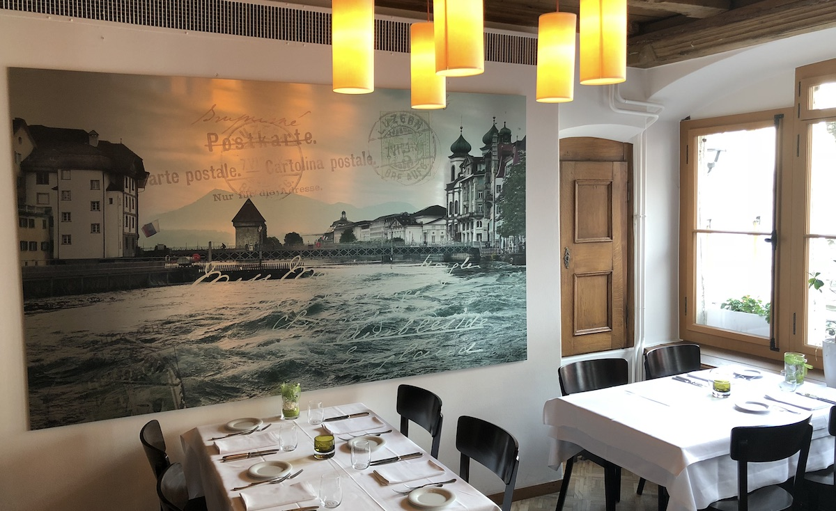 Ältester Saal in der Stadt Luzern: «Borromäus» bildet das gleichnamige Restaurant im ersten Stock.