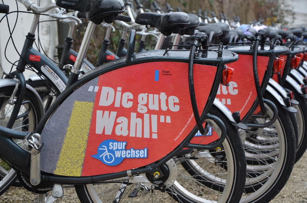 Nextbike – das Veloverleihsystem von Luzern – für die Freizeit, zum Pendeln oder für Touristen.