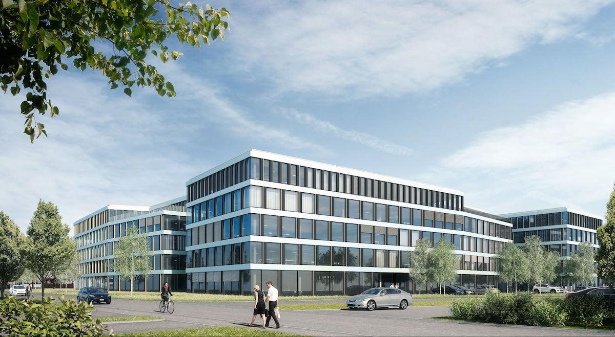 So soll das geplante Geschäftszentrum Helix aussehen, das die Alfred Müller AG in Cham realisieren will.