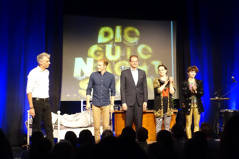 Von links: Sandro Brotz, Michael Elsener, Reto Wyss und das Duo Eclectica.