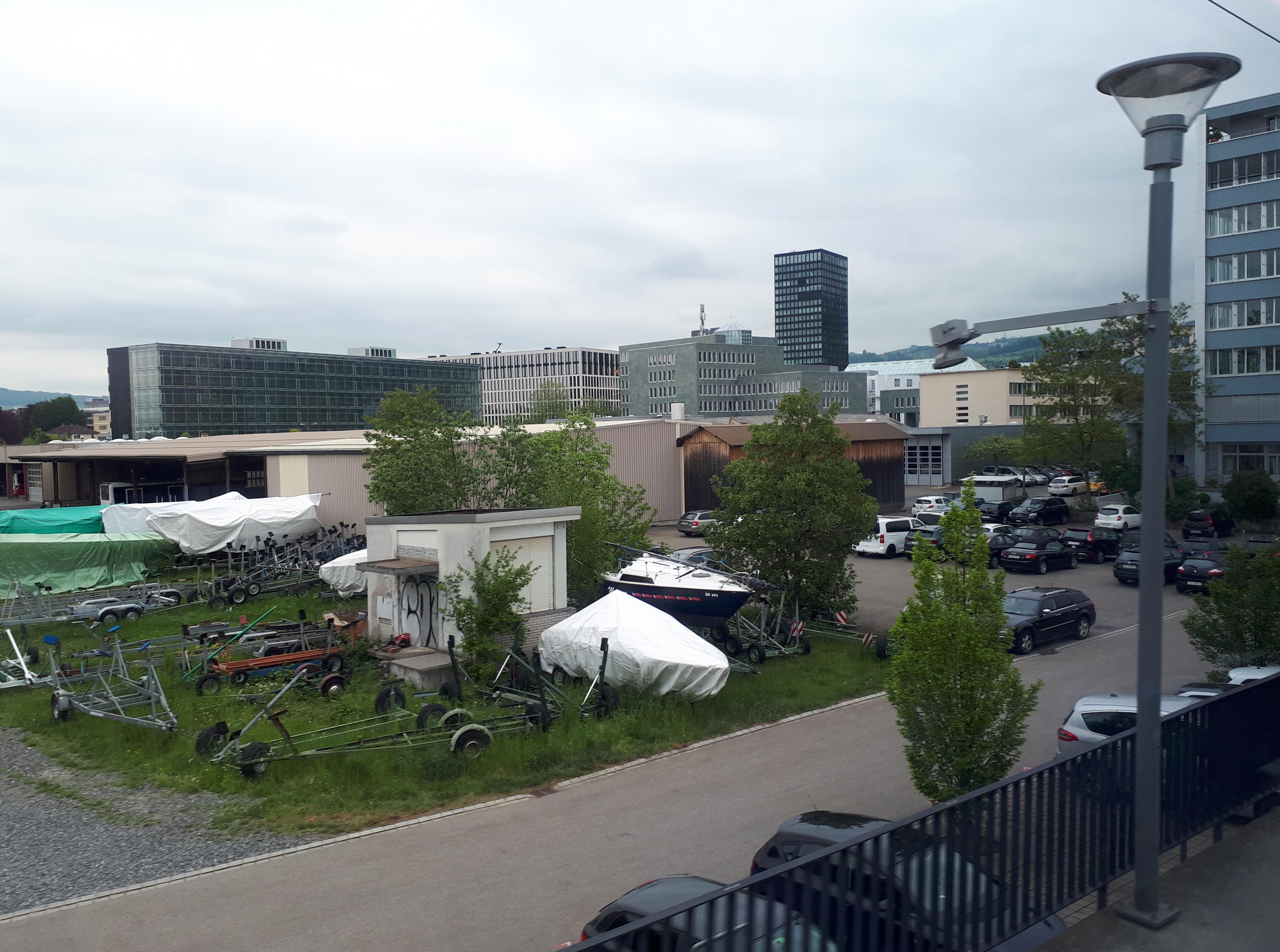 Areal des neuen Busdepots: Eine grosse Fläche im zentralen Bereich der Stadt Zug.