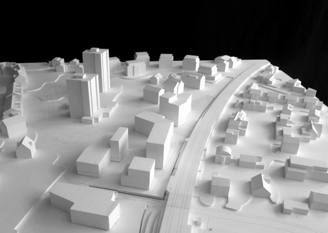 Die Variante «Zentrum» im Modell.