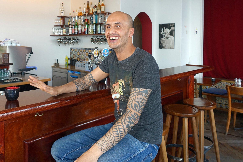 Er freut sich, bald wieder etwas Neues anzupacken: Younes El Kinani im Barbès.