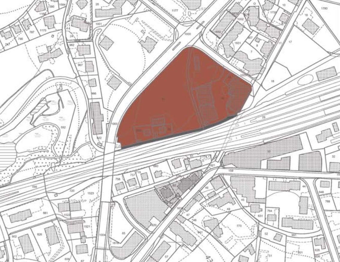 Auf diesem Gebiet, gleich neben den Rotkreuzer Geleisen, wird künftig gebaut.
