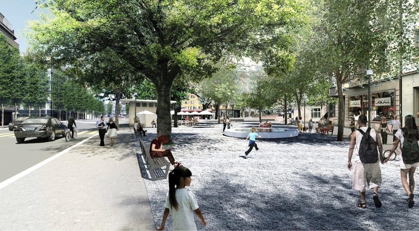 Eine Idee, wie der Pilatusplatz künftig gestaltet werden könnte.