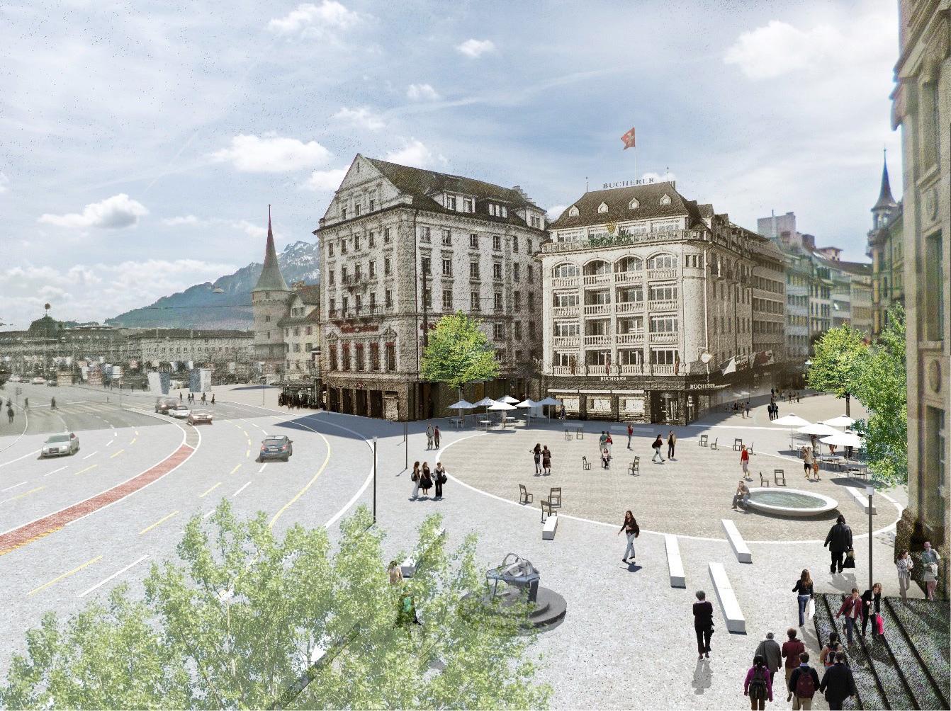 So könnte der Schwanenplatz ohne Cars aussehen.