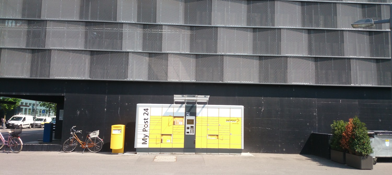 Hätten Sie es gewusst? Ein My Post 24-Automat steht hinter dem Siemens-Parkhaus.