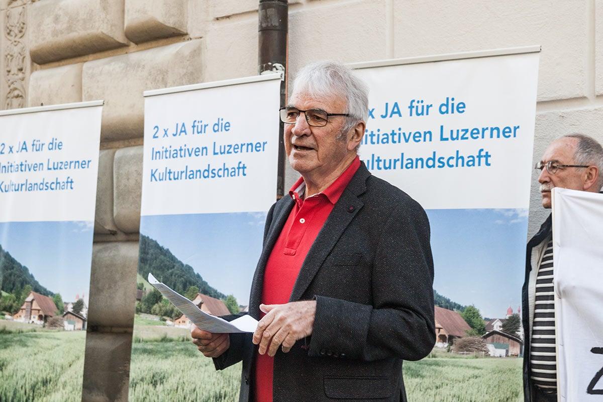 Marcel Sonderegger, Präsident des Initiativkomitees.