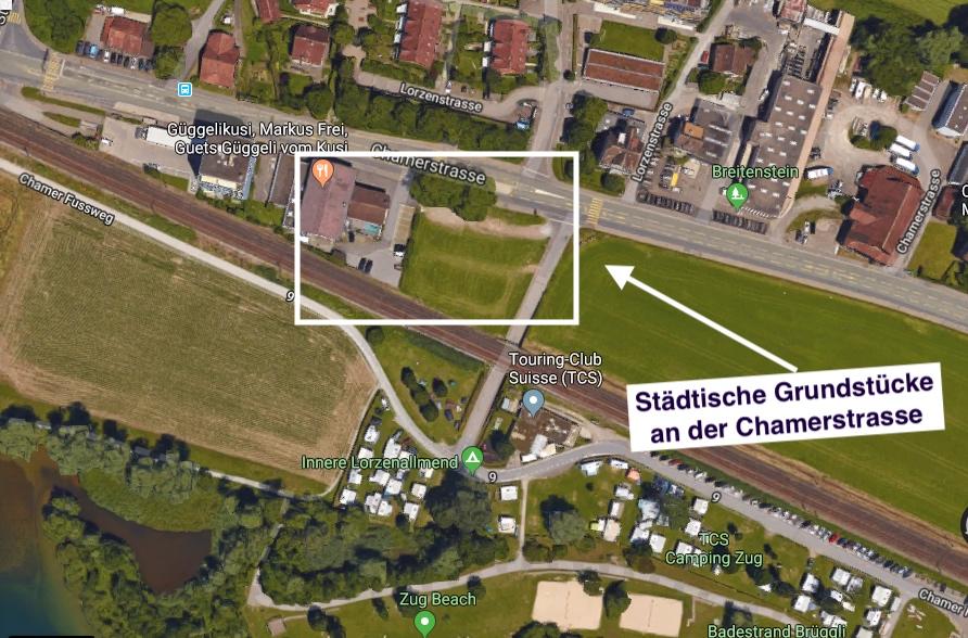 Unweit des Brügglis könnten preisgünstige Wohnungen mit Seeblick entstehen.