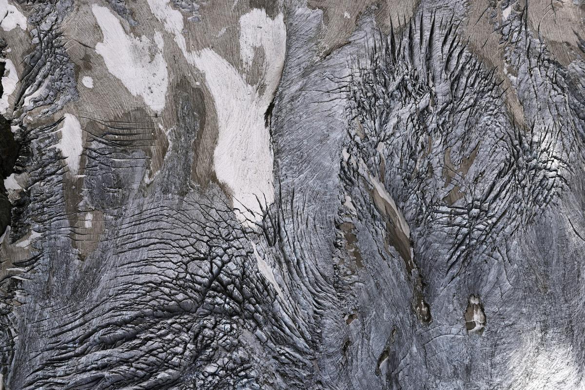 Die «Elefantenhaut»: Der Rosegg-Gletscher im Bernina-Gebiet im Engadin.