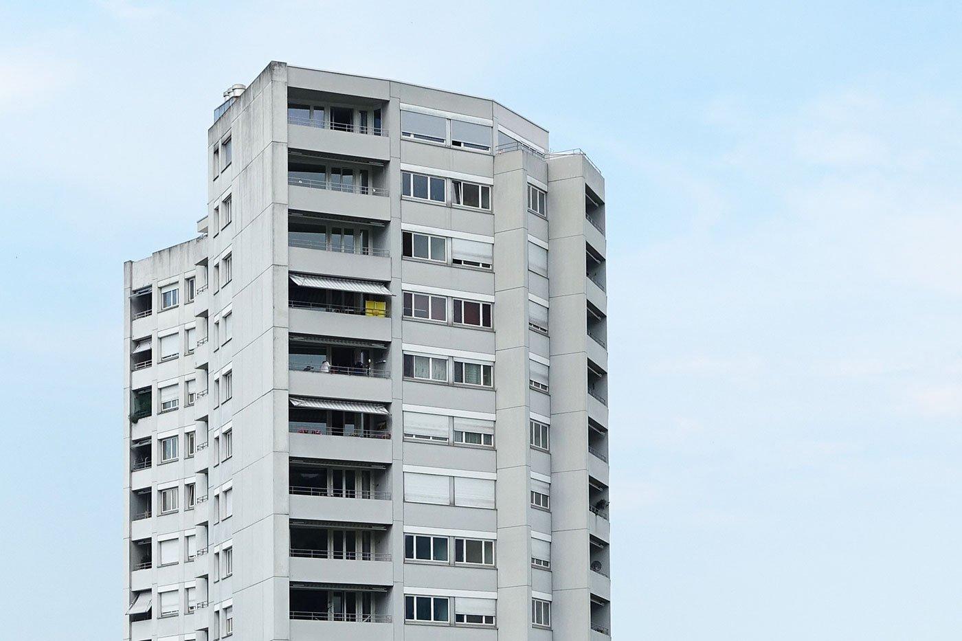 Das Leben in luftiger Höhe ist begehrt: Aalto-Hochhaus im Schönbühl.