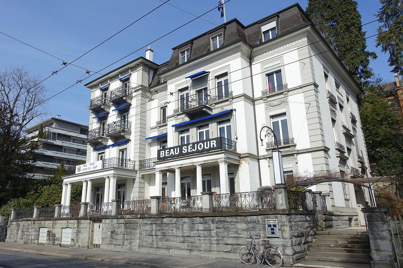 Das «Beau Séjour» an der Haldenstrasse in Luzern ist bereit für neue Gäste.