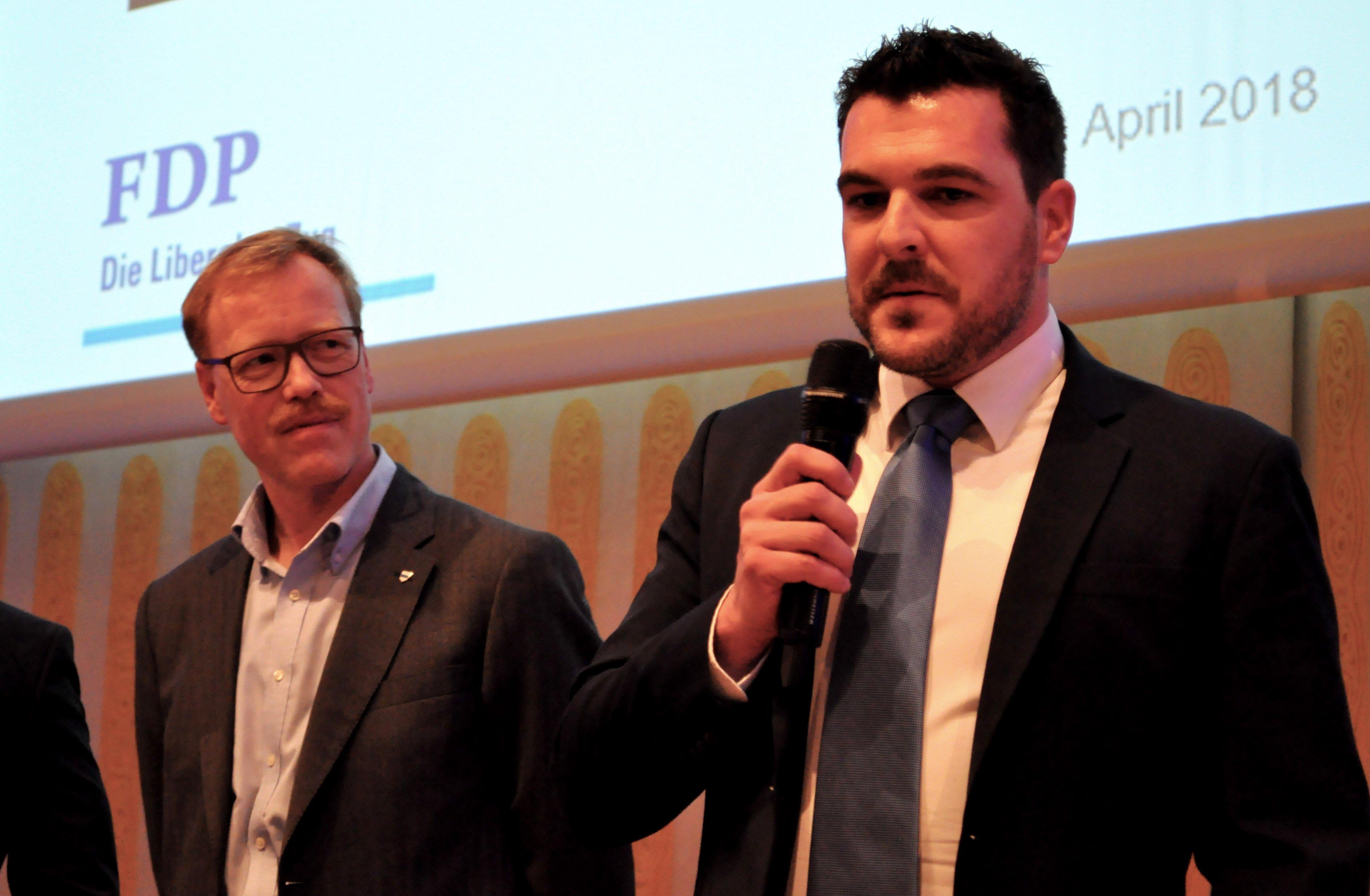 Andreas Hostettler (links) und Florian Weber werden von der FDP für die Regierungsratswahlen aufgestellt.