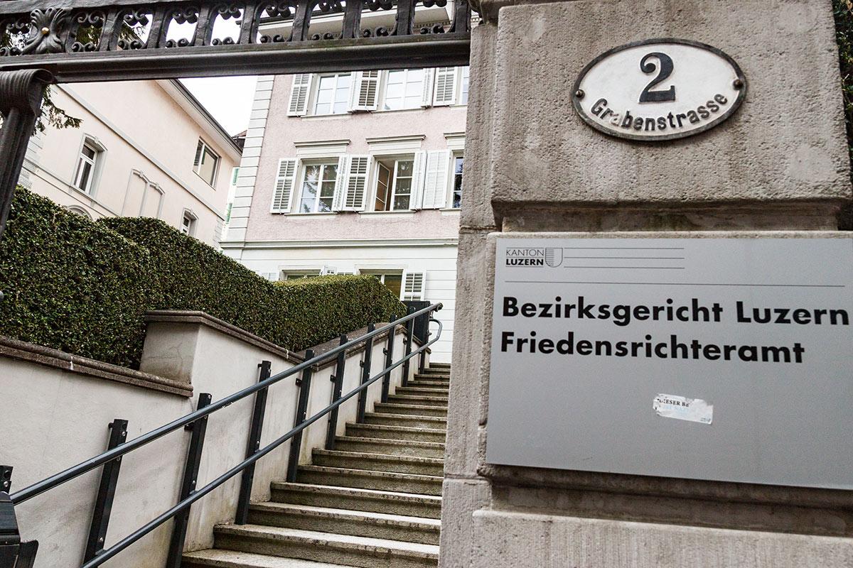 Das Bezirksgericht Luzern an der Grabenstrasse.
