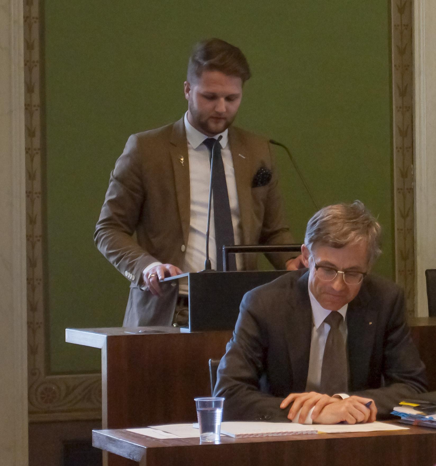 Gregor R. Bruhin, SVP-Fraktionschef in der Stadt Zug, davor FDP-Finanzchef Karl Kobelt.