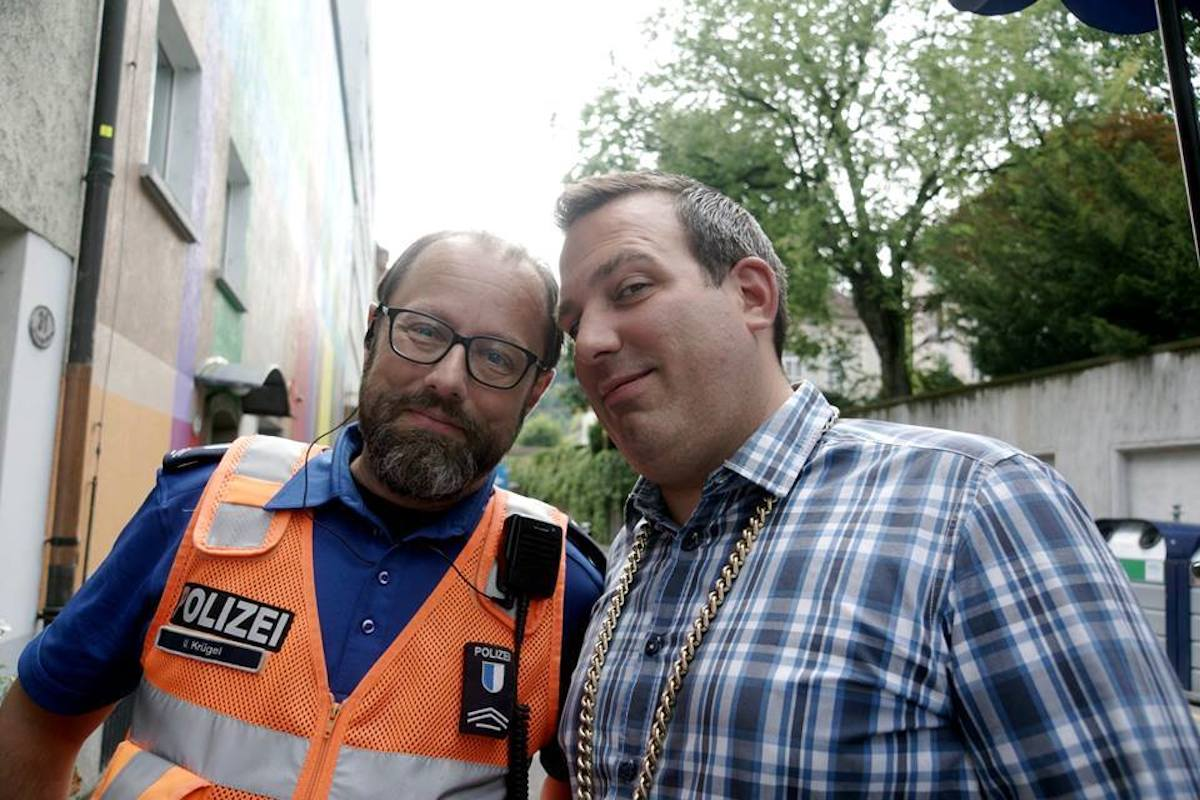 Krügel Urs-Anton alias «Bierpolizist» und Zünftler «Lego».