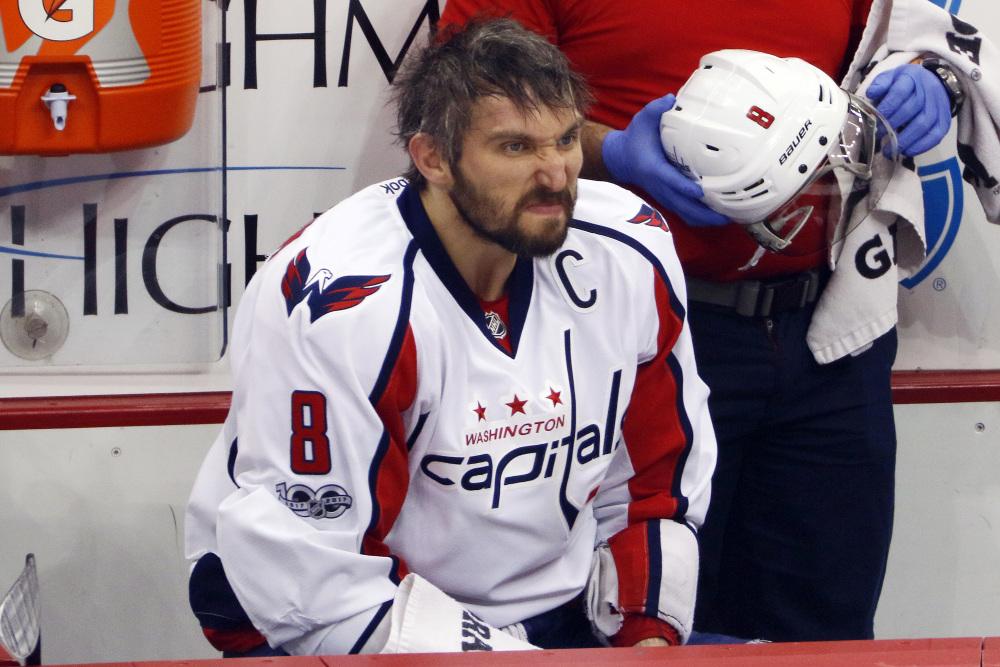 Einer von Sbisas Gegenspielern in den Finals: Die russische Hockey-Überfigur Alex Ovechkin.