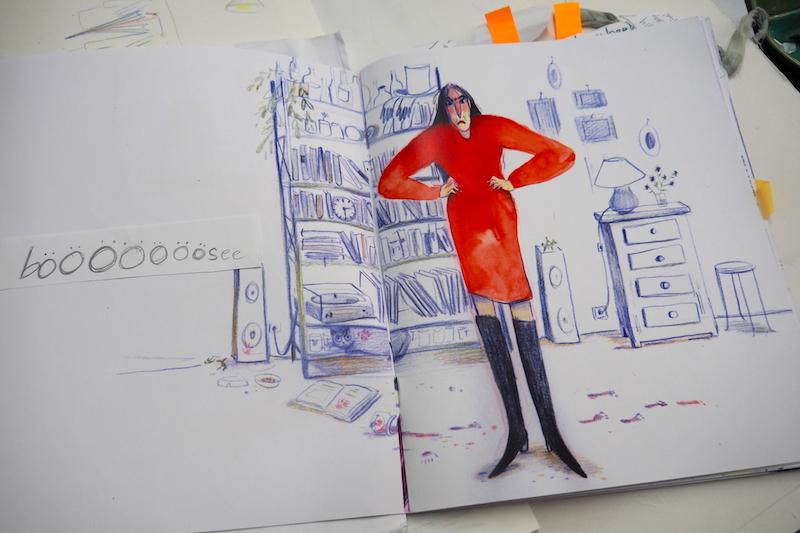 Emotional und extravagant – so wird die Mutter im Comic dargestellt.