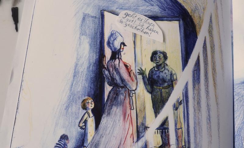 Eine der losen Szenen im Comic von Haslbauer.